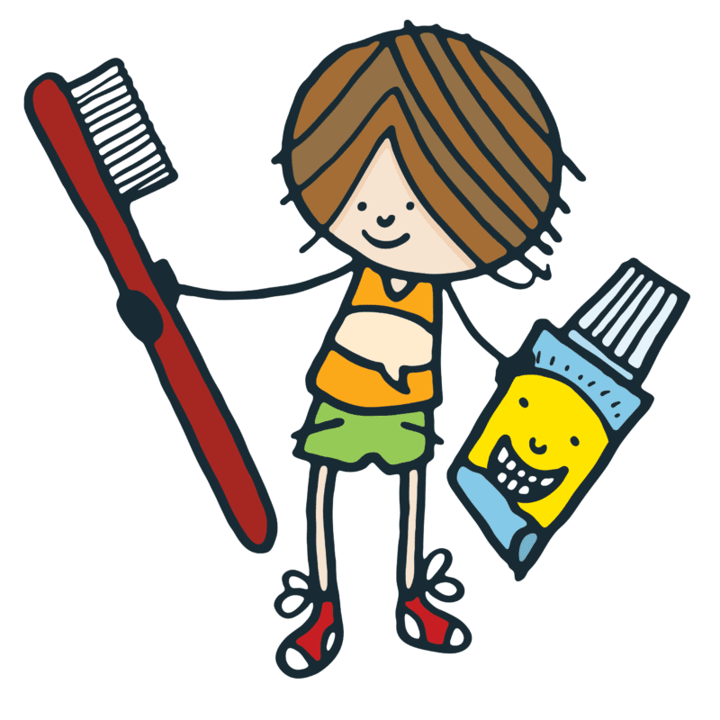 Clean My Teeth book illustrations