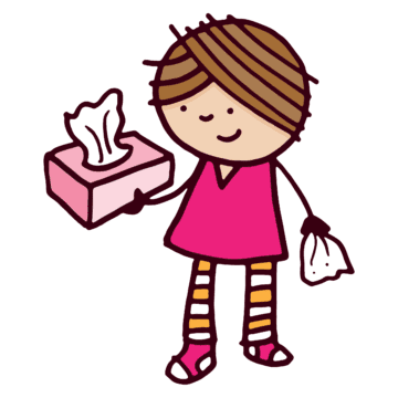 Girl with Tissues